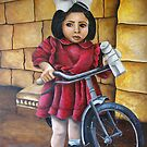 Clara nel cortile by Lucy Marsella