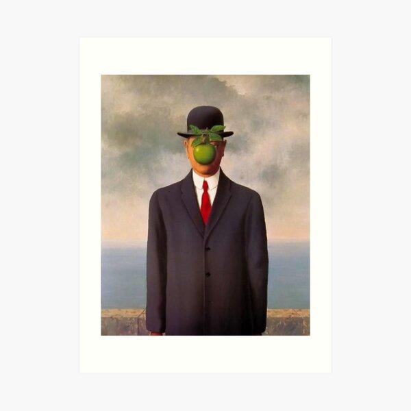 camisa de arte surrealista magritte Lámina artística