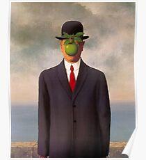 Magritte son of man art surrealist shirt Poster