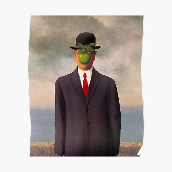 magritte surrealist art shirt Poster