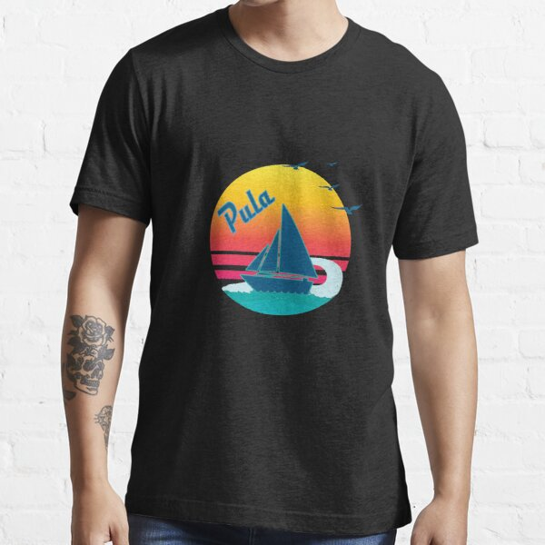 Retro Vintage Pula Sunset, #Pula  Essential T-Shirt