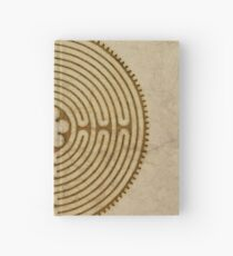 Symbol Chartres Labyrinth Metal Antique Grunge Style Hardcover Journal