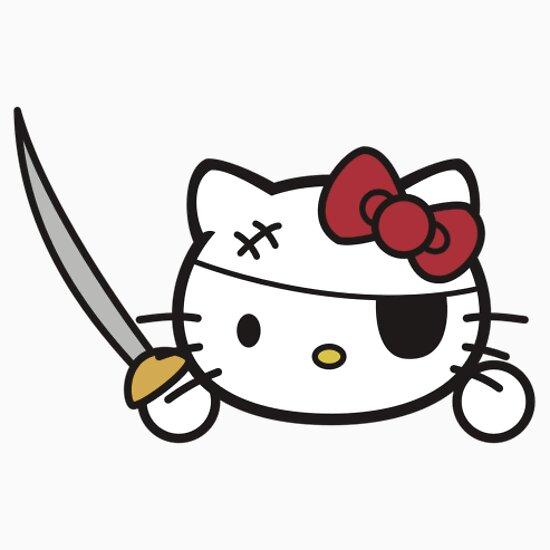 TShirtGifter presents: Hello Pirate Kitty