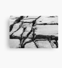 Limestone pavement in the Burren, Ireland Canvas Print