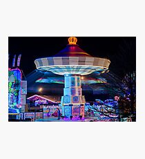 Chairoplane Photographic Print