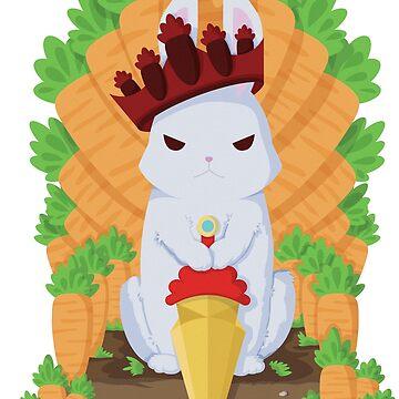 Cute Angry Bunny King by ZaryaKiqo