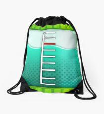 Turquoise Ink Tank Drawstring Bag
