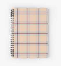 Custom maroon Tartan design Spiral Notebook