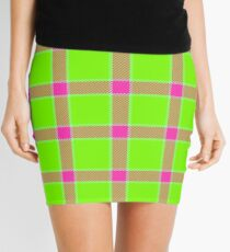 Custom maroon Tartan design Mini Skirt