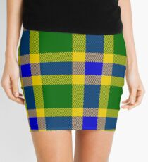 Custom medium blue Tartan design Mini Skirt
