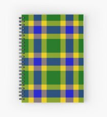 Custom medium blue Tartan design Spiral Notebook