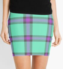 Custom medium orchid Tartan design Mini Skirt