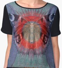 Mystic Wings - Red and Blue Chiffon Top