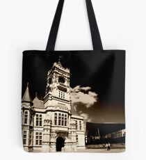 Sunny Day at the Pierhead Building. Tote Bag