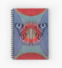 Mystic Wings - Red and Blue Spiral Notebook