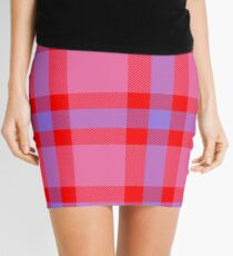 Custom medium purple Tartan design Mini Skirt