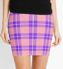 Custom mint Tartan design Mini Skirt
