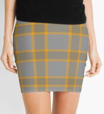 Custom navajo white Tartan design Mini Skirt