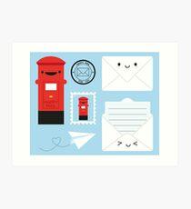 Happy Mail - Kawaii Post Art Print