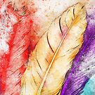 Watercolor feathers by BlackDevil