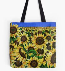 The Field of Sunflowers Tote Bag