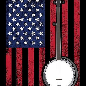 Banjo USA Flag Design  by kudostees