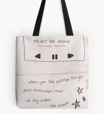 Never Be Alone Shawn Mendes Tote Bag