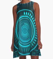 Futurist Matrix   Digital Art A-Line Dress