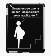 Accessible - Pregnant woman iPad Case/Skin