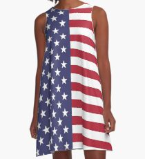 USA Flag Leggings - US American Tights Polainas A-Line Dress