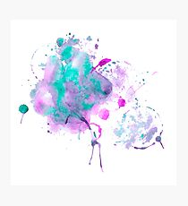 Watercolor colorfull spots and splashes Photographic Print