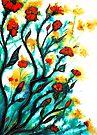 Flowers - Sunbursts by Linda Callaghan