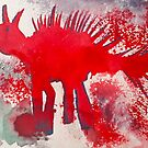 Funny Little Red Dinosaur by MEWS