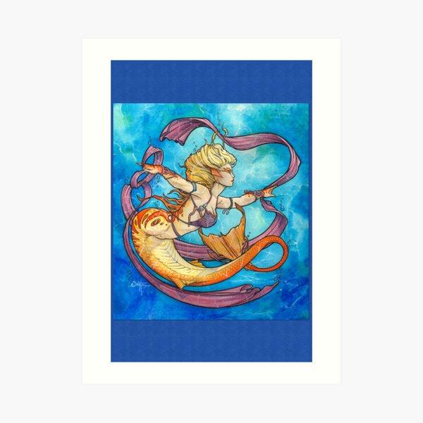 Mermaid Dancer Art Print