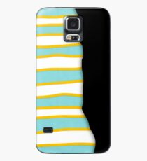 Unusual Desigual Black Lines Yellow and Turquoise Case/Skin for Samsung Galaxy