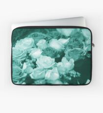 Bowl of Teal Roses Laptop Sleeve
