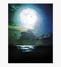 The Moon and the Sea Photographic Print