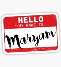 Maryam Name Stickers   Redbubble