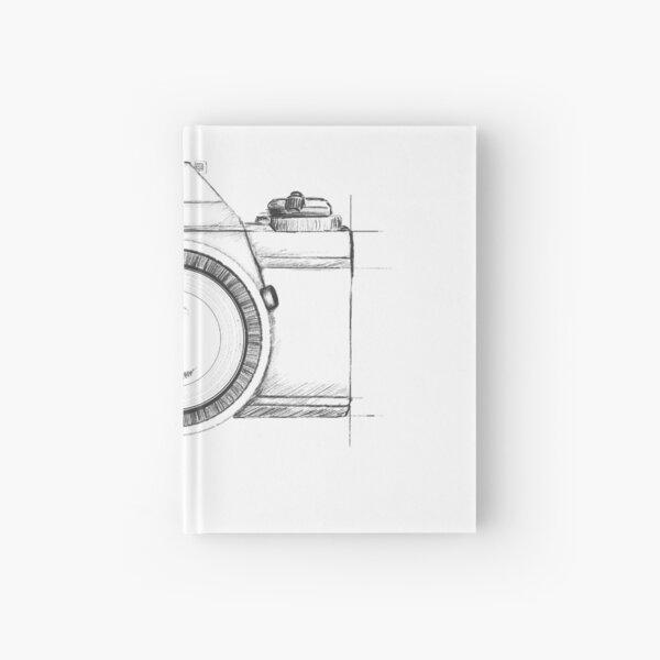 Vintage SLR Camera Drawing Hardcover Journal