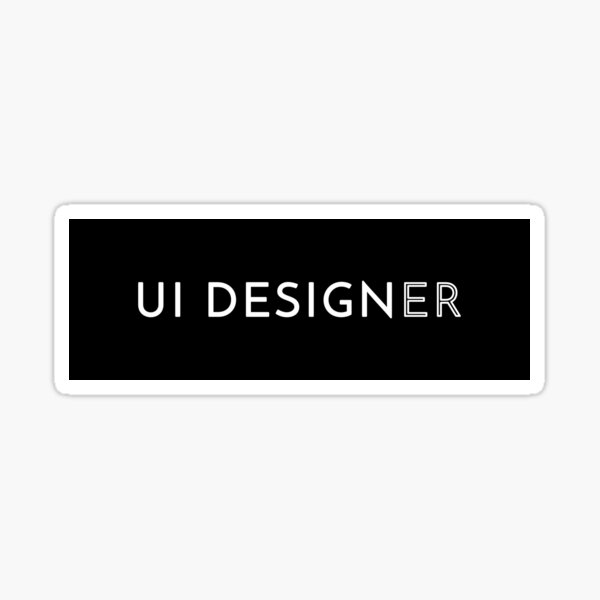 UI Designer Sticker