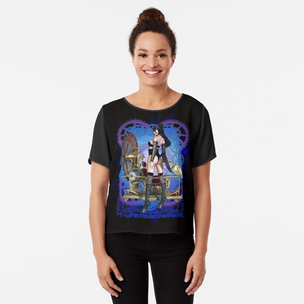 Steampunk Pony Girl Time Machine Chiffon Top