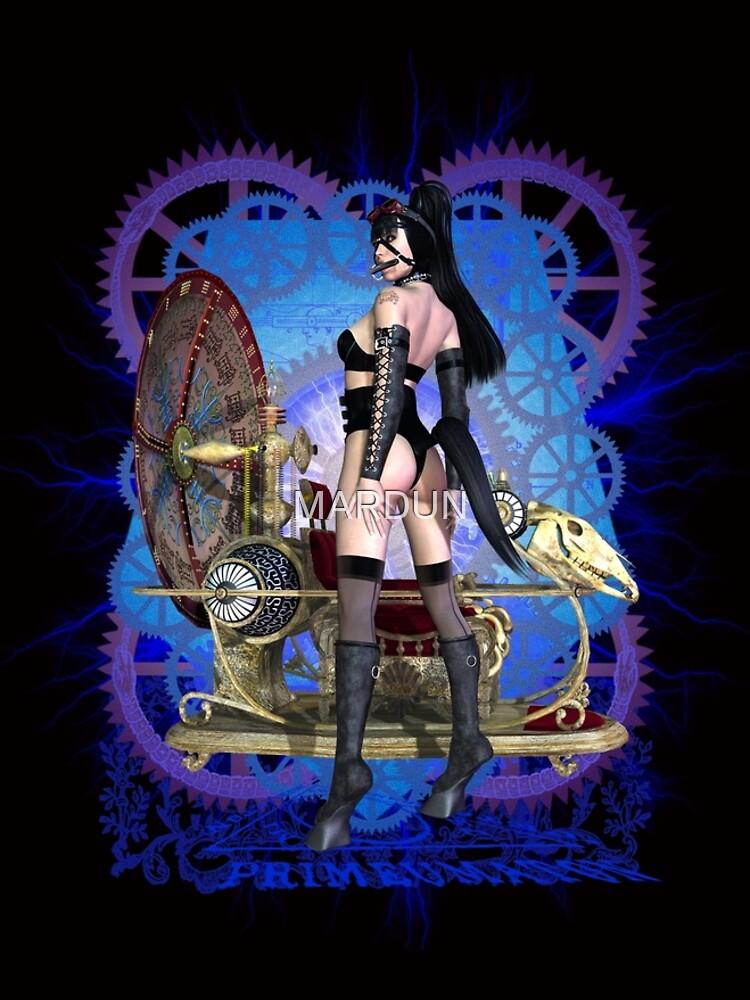 Steampunk Pony Girl Time Machine by MARDUN