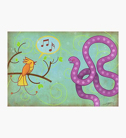 Sing me a song! Photographic Print
