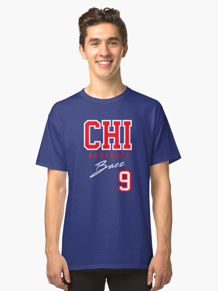 Chicago Baseball, Baez Classic T-Shirt Front