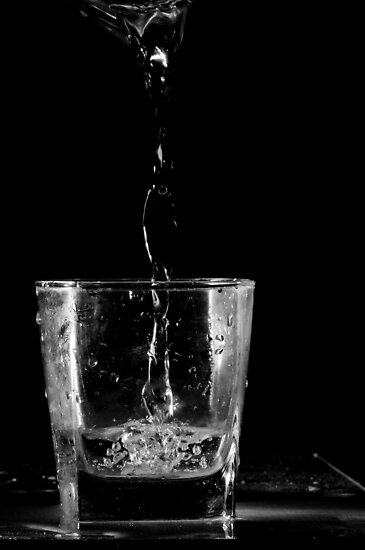 glass and water #3 by Yuriy Netesov