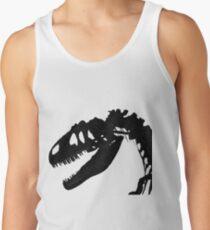 T-Rex Skeleton Black Tank Top