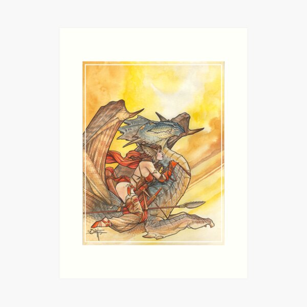 Dragonrider Art Print