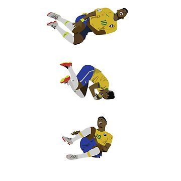 Neymar Jr Funny Injured Rolling Art by uniqueegg