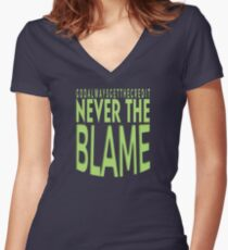 Atheist God Never Takes The Credit Tee Shirt Women's Fitted V-Neck T-Shirt