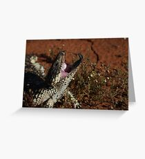 blue tongue lizard Greeting Card